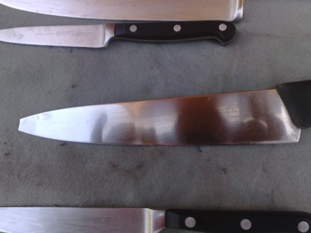 before image of knife with snapped off tip